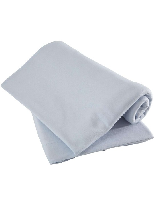 Pack of 2 Fitted Cotbed Sheets - Blue image number 1