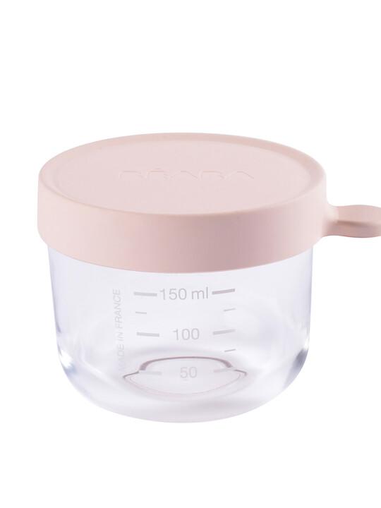 Beaba Conservation Jar Glass 150ml Pink image number 1