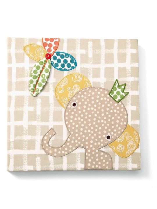 لوحة الفيل المطرزة الكتانية من Zam Bee Zee image number 1