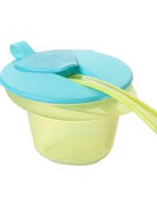 وعاء غذاء الفطام المبرد والمهروس Cool and Mash Bowl من Tommee Tippee مع غطاء وملعقة - لون أزرق image number 1