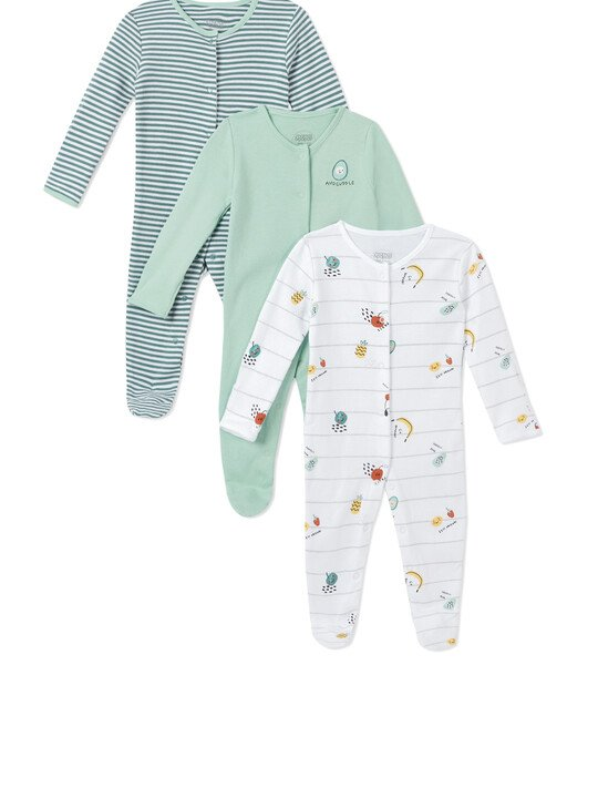 3Pack of  FRUIT SLEEPSUITS image number 1