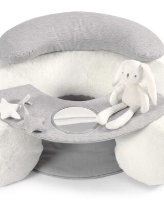 مقعد للجلوس واللعب - رمادي / أبيض