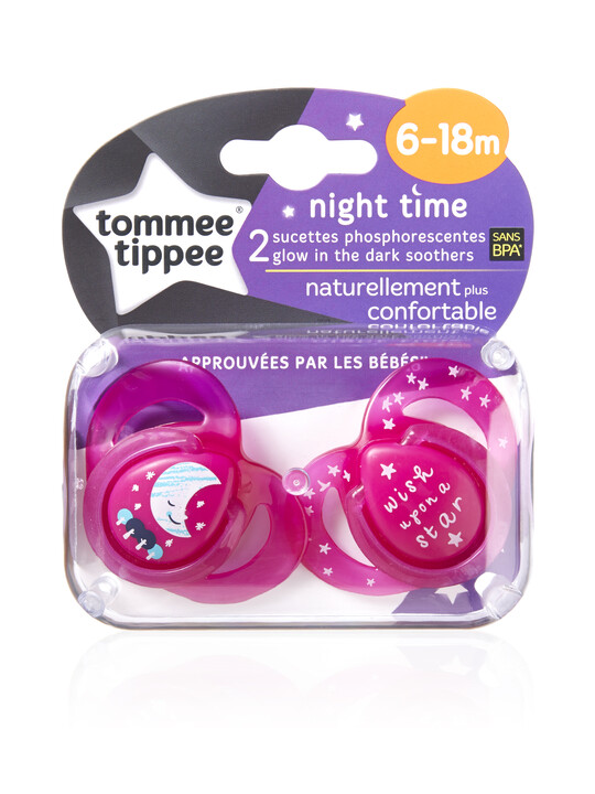 لهايات وقت النوم Closer to Nature Night Time من Tommee Tippee لعمر من 6 شهور إلى 18 شهرًا (عبوة مكونة من قطعتين) - لون وردي image number 2