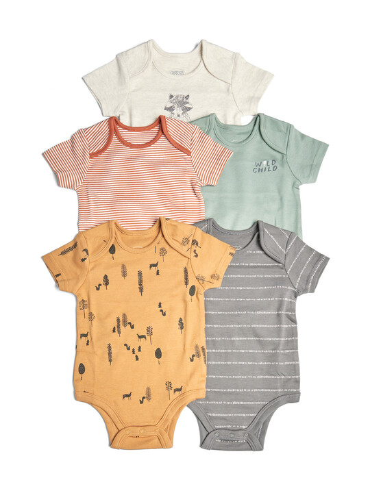طقم لباس قطعة واحدة بتصاميم متنوعة للأولاد - 5 قطع image number 1