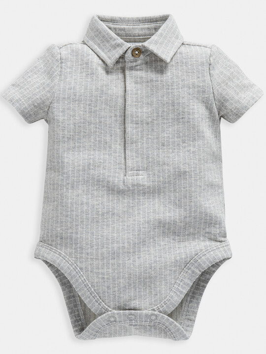 Grey Polo Bodysuit image number 1