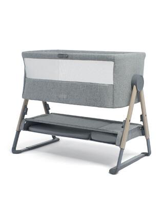 Lua Bedside Crib Grey
