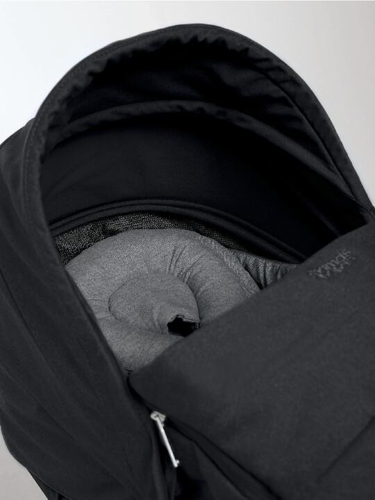 مجموعة مقعد عربة أطفال ايرو لحديثي الولادة - أسود image number 3