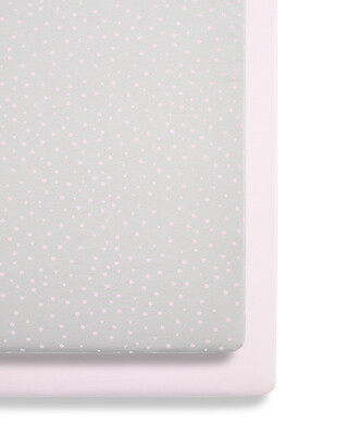 SnuzPod - 2 Pack Crib Fitted Sheets - Rose Spots (N)