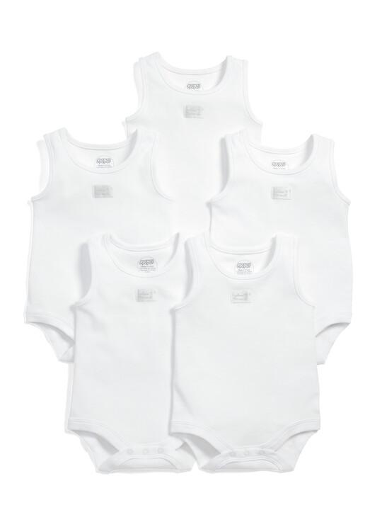 Sleeveless Bodysuits (Set of 5) image number 1