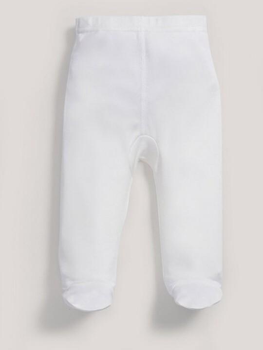 سراويل قماش البامبو الرقيقة باللون الأبيض image number 3