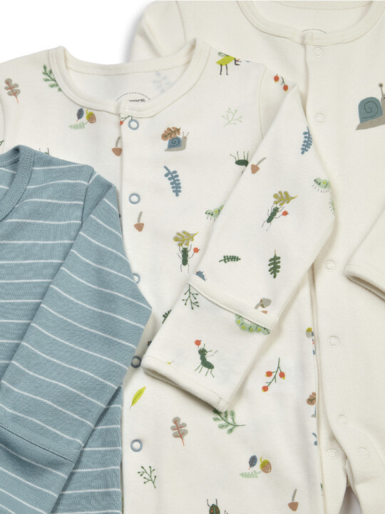 3PK BUGS S/SUITS NB:Multi Colour:NEW:MULTI:NEW image number 2