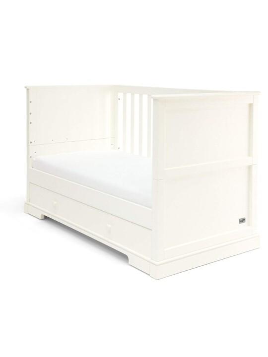 مهد وسرير للأطفال بسن المشي أكسفورد خشب بوحدة تخزين - أبيض image number 2