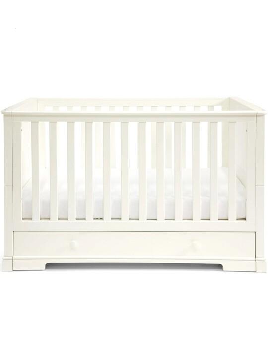 مهد وسرير للأطفال بسن المشي أكسفورد خشب بوحدة تخزين - أبيض image number 1