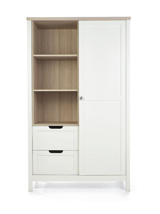 خزانة هارويل - أبيض وبني image number 1