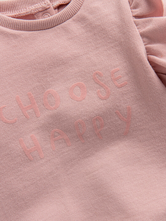 Choose Happy' Frill Sweater image number 3