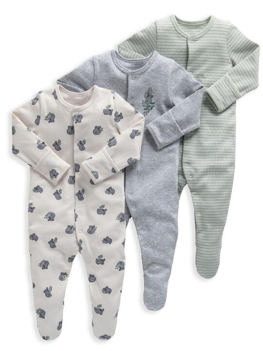Koala Jersey Cotton Sleepsuits 3 Pack image number 1