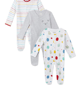 3Pack of  BEAR Sleepsuits
