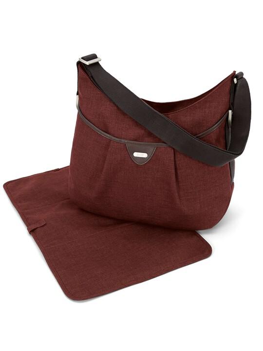 حقيبة كتف Ellis من نسيج التويد - بلون الصدأ (Rust) image number 1