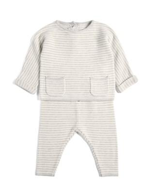 Stripe Knitted 2 Piece Set