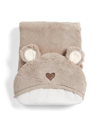 منشفة بغطاء للرأس بتصميم دب - ميلي وبوريس