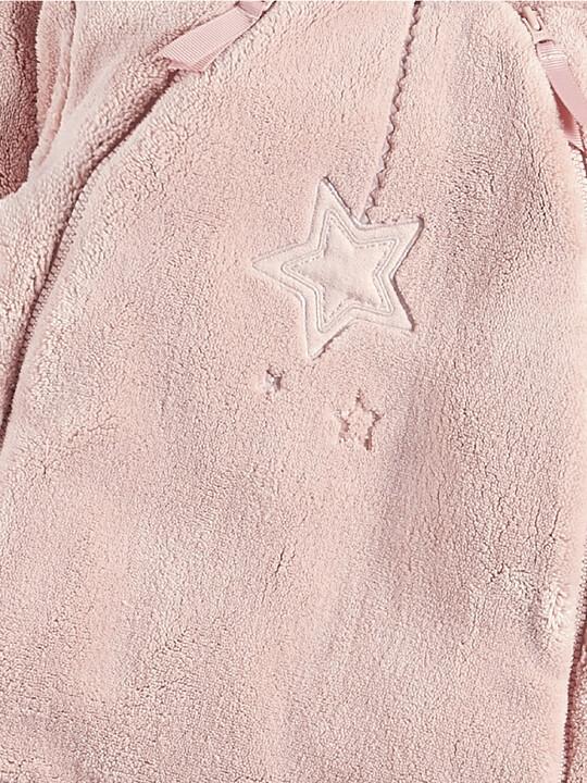 بدلة الفراء باللون الوردي image number 3