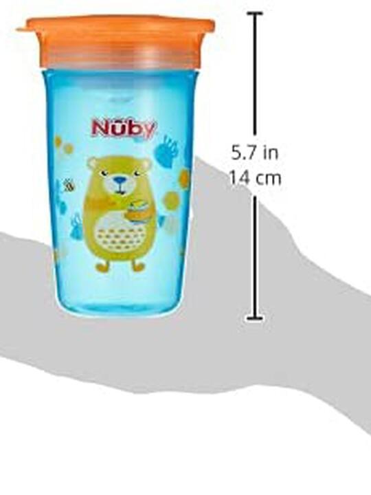 كوب وندر بزاوية شرب 360 درجة من نوبي بلون أزرق - 300 ملل image number 4