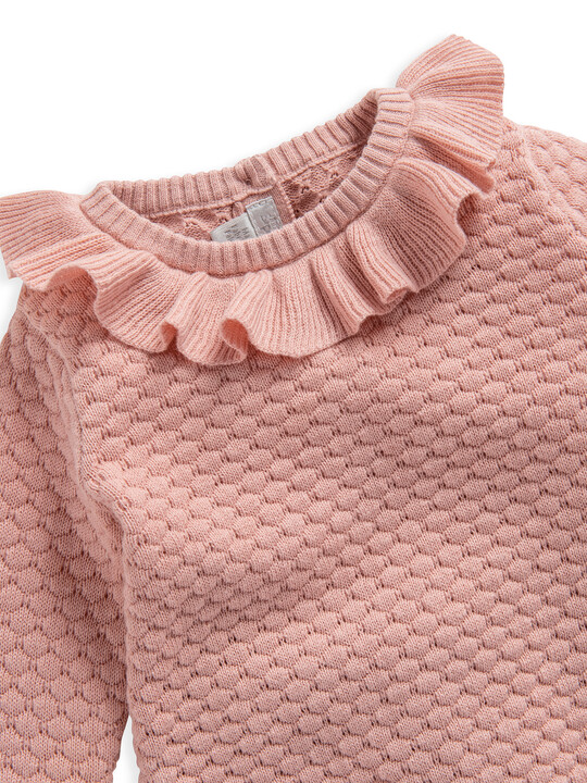 Pink Knitted 2 Piece Set image number 4