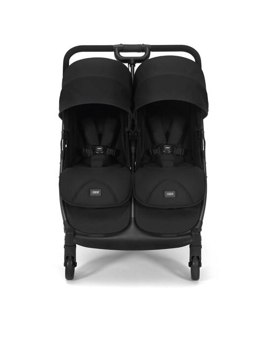 عربة أطفال أرماديللو مزدوجة قابلة للطي - أسود image number 2